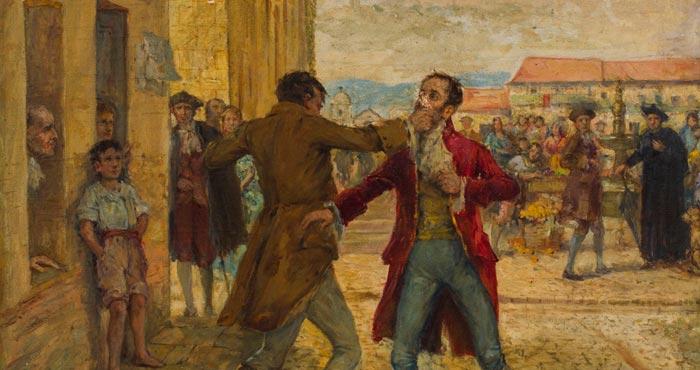 Cuadro de la reyerta del 20 de julio de 1810 for Jardines 20 de julio bogota